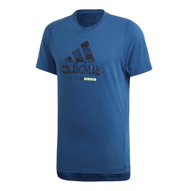Adidas Men's Freelift 360 Graphic Logo Short Sleeve T-Shirt – Legend Marine