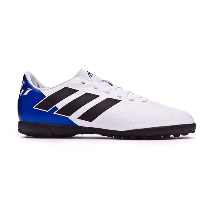 Adidas Kids Nemeziz Messi Tango 18.4 TF Football Boots - White