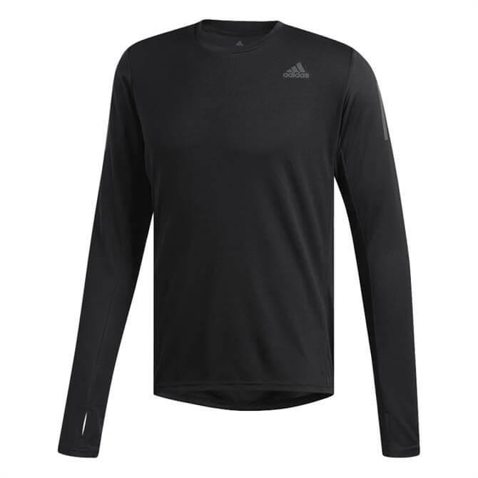 Adidas Men's Own The Run Long Sleeve T-Shirt - Black