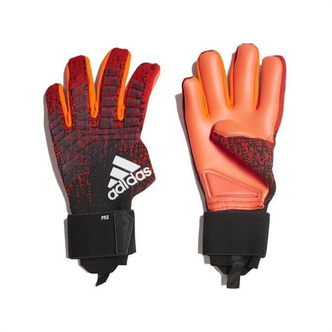 Adidas Predator Pro Goal Keeper Football Gloves - Active Red