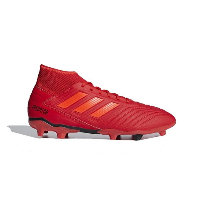 Adidas Men's Predator 19.3 Firm Ground Football Boots - Active Red