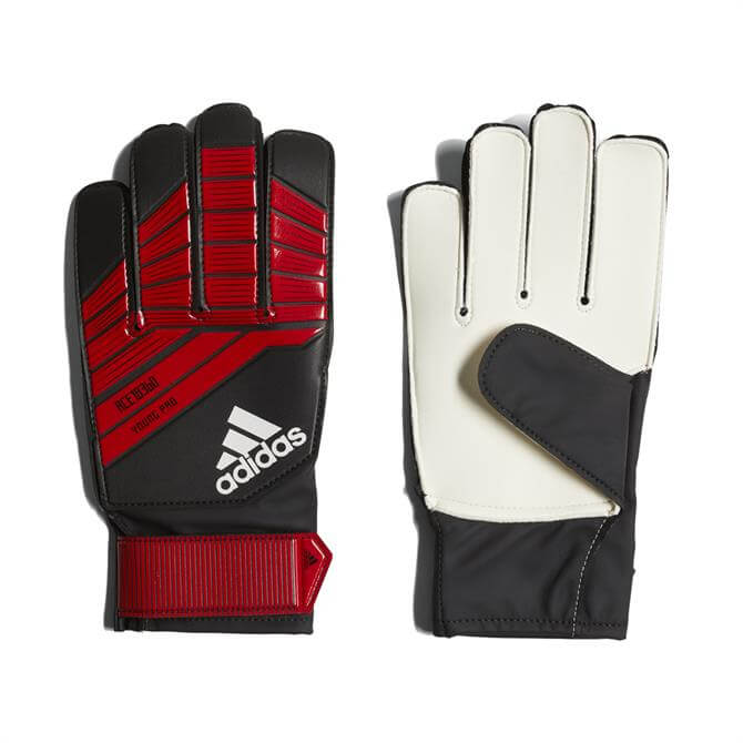 Adidas Predator Young Pro Goalkeeping Gloves - Black Red