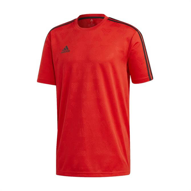 Adidas Men's TAN Jacquard Football Jersey - Red