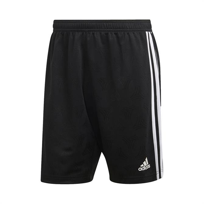 Adidas Men's TAN Jacquard Football Shorts- Black