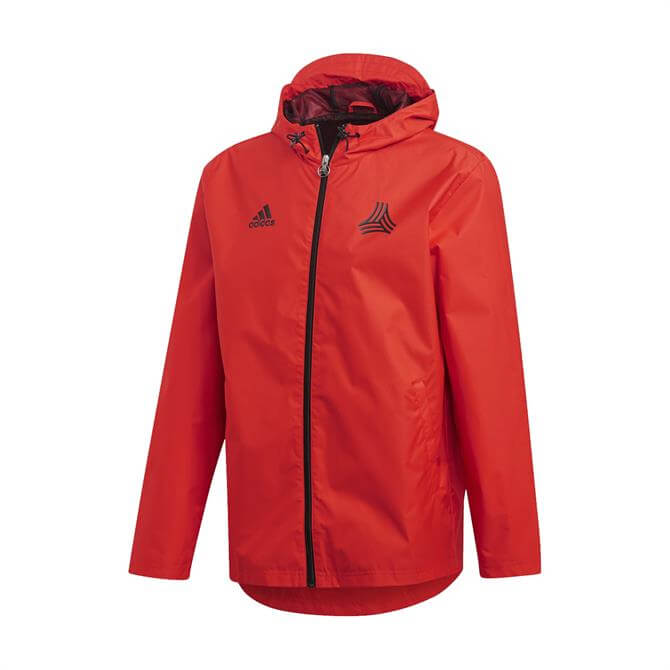 Adidas Men's TAN Football Windbreaker Jacket - Red