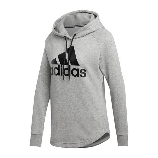 Adidas Women's Must Haves Badge of Sport Hoodie - Grey