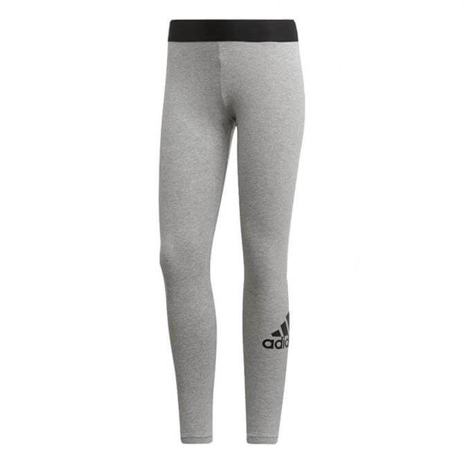 Adidas Women's Must Have Badge of Sport Fitness Tights - Mid Grey