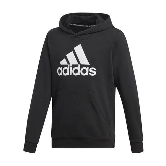 Adidas Kid's Must Have Badge of Sport Hoodie - Black/White
