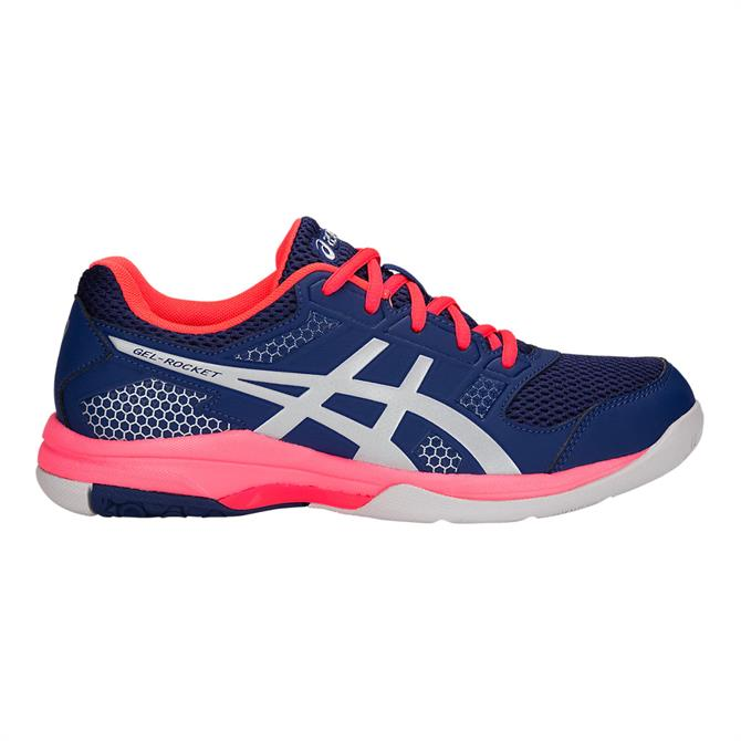 Asics Gel-Rocket 8 Women's Indoor Court Shoe- Blue Print/Silver