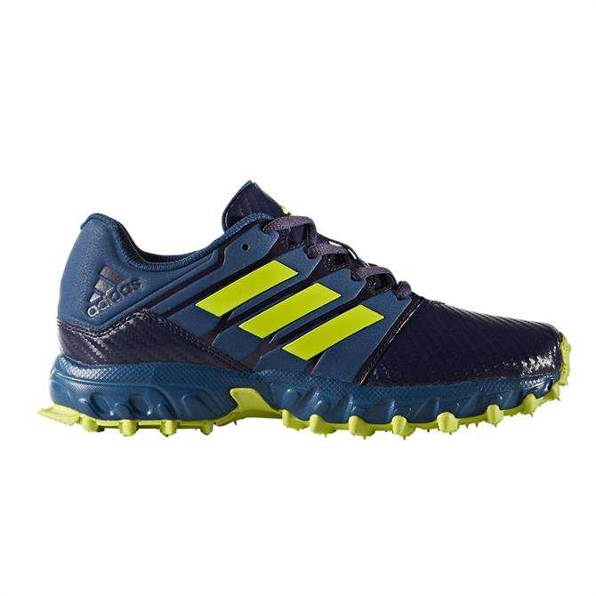 Adidas Hockey Lux Junior Shoes- Blue/Yellow