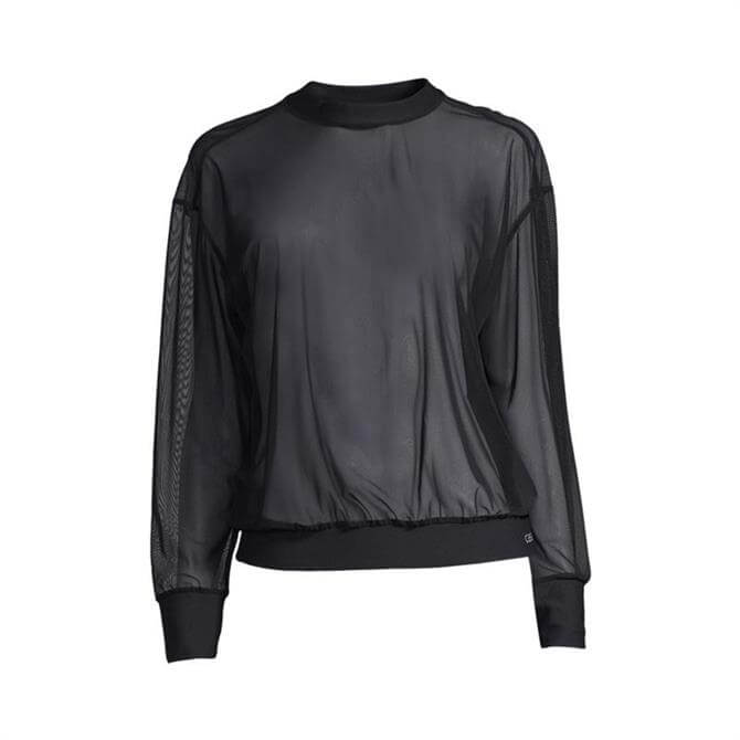 Casall Women's Lux Mesh Crew Neck Fitness Top - Black