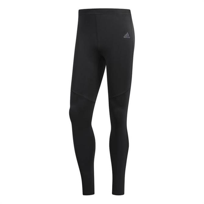Adidas Men's Response Long Run Tight- Black