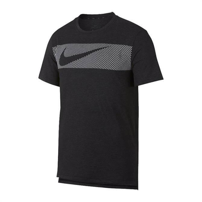 Nike Men's Dri-FIT Breathe Graphic Short-Sleeve Training Top - Black