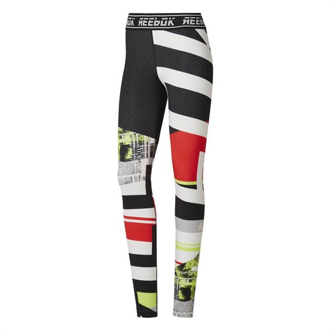 Reebok Women's WOR Meet You There Engineered Tights - Neon Lime