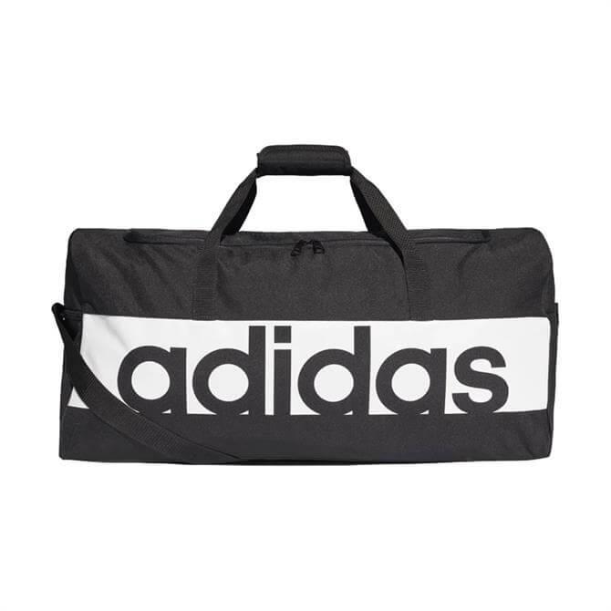 Adidas Large Linear Performance Duffle Bag- Black
