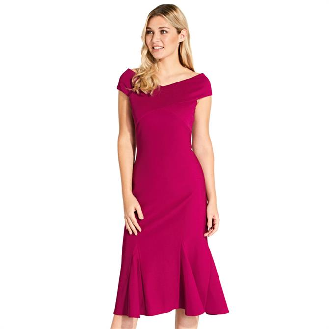 Adrianna Papell Pleated Skirt Midi Dress