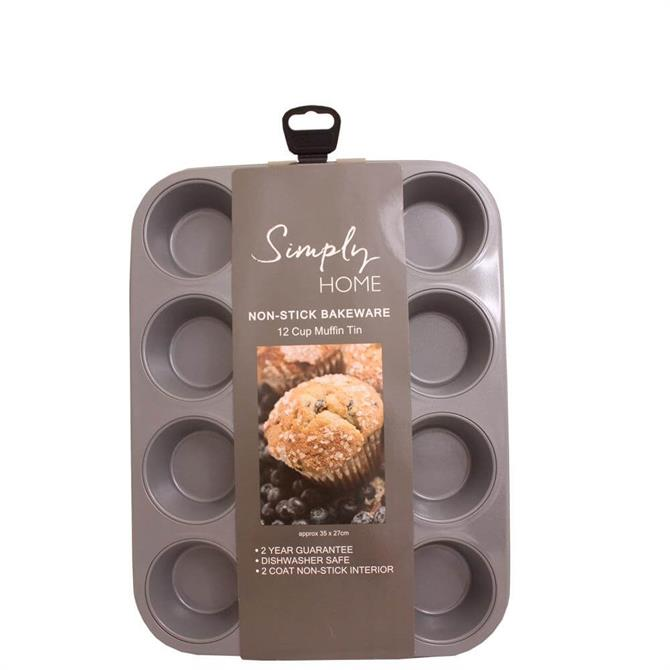Simply Home Non-Stick 12 Cup Muffin Tin