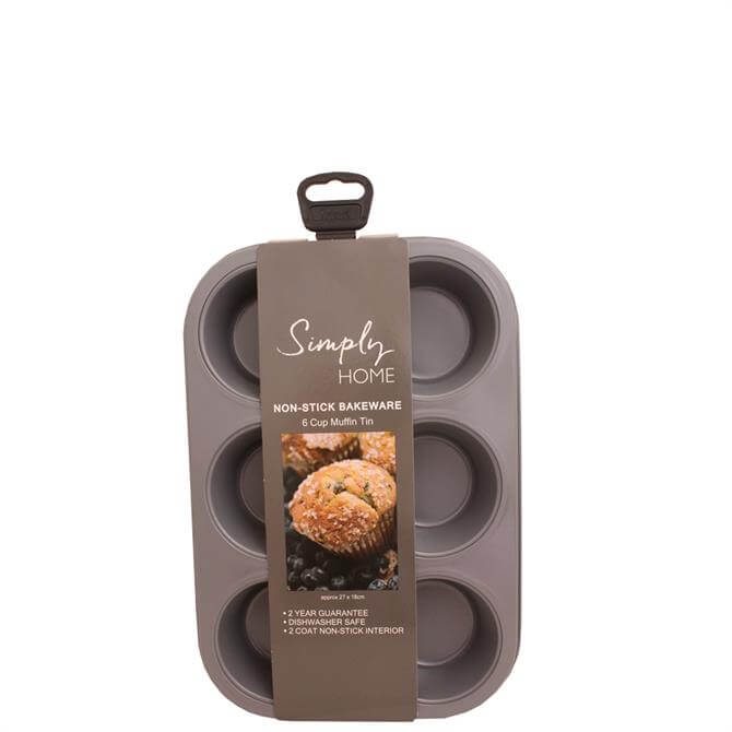 Simply Home Non-Stick 6 Cup Muffin Tin