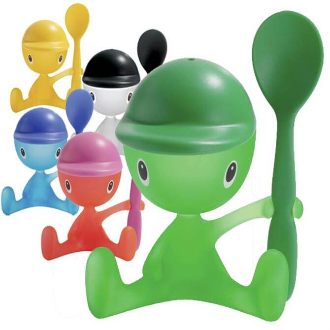 Alessi CICO Egg Cup with Salt Caster and Spoon