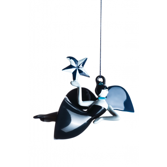 An image of Alessi Blue Christmas Dancer Ornament