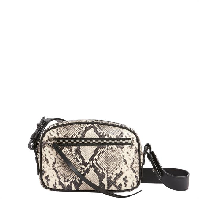 AllSaints Silver Suede Bumbag Crossbody Bag