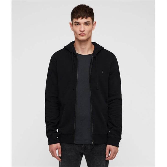 AllSaints Men's Raven Zip-Through Hoodie