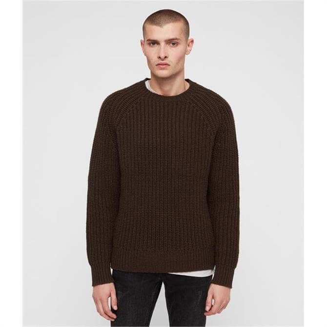 AllSaints Men's Mast Crew Neck Sweater