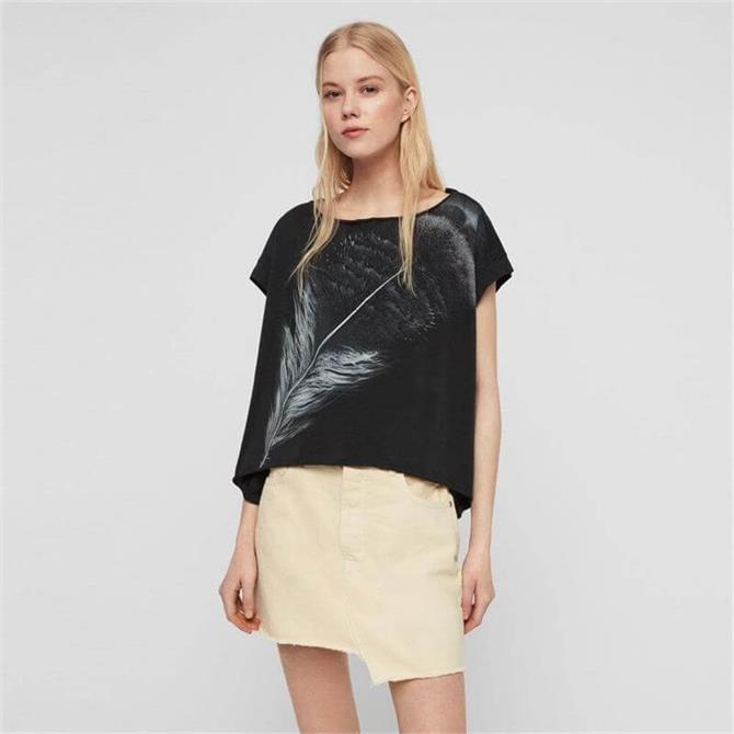 AllSaints Feather Pina T-Shirt