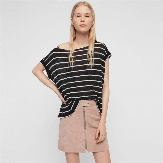 AllSaints Stripe Pina T-Shirt
