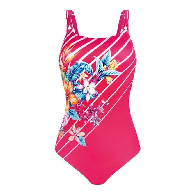 Amoena Honolulu Pink One Piece Swimsuit