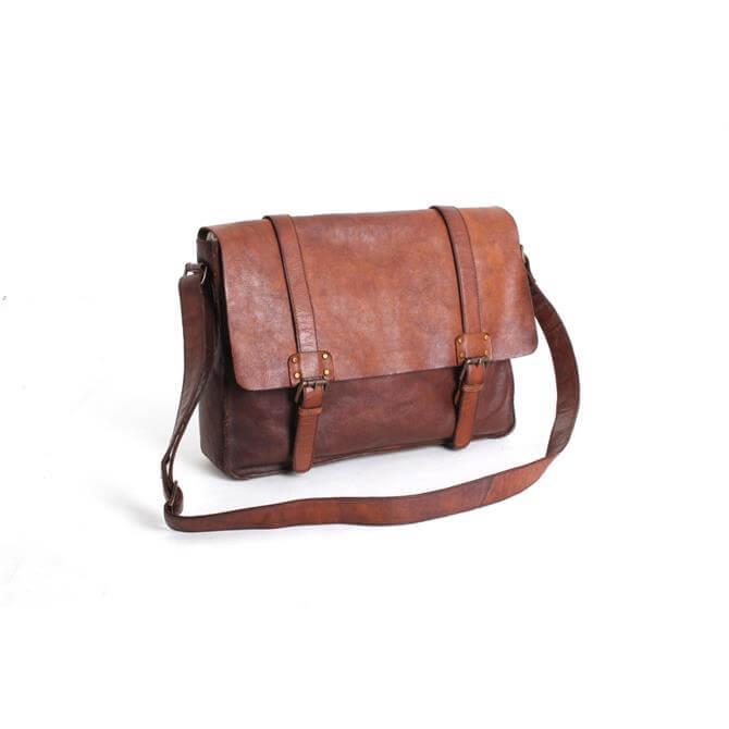 Ashwood Leather Large Messenger Bag