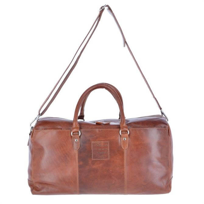 Ashwood Large  Leather Oily Hunter Holdall Bag