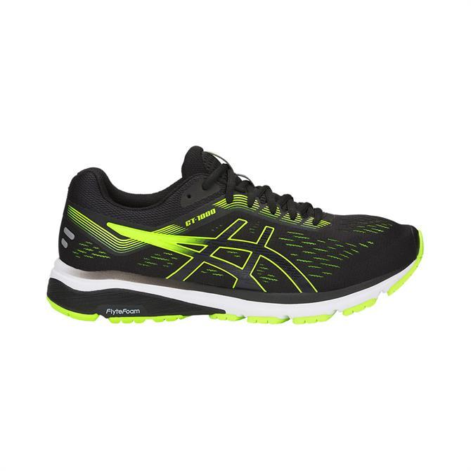 Asics Men's GT-1000 7 Running Shoe- Black Hazard Green