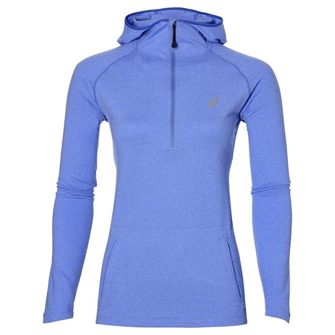 Asics Women's Long Sleeve Hoodie- Blue