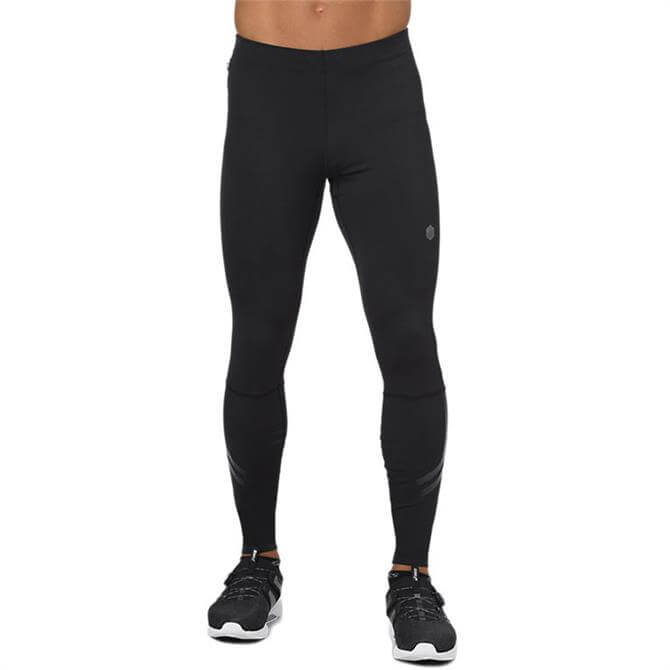 Asics Men's Icon Running Tights- Black Grey