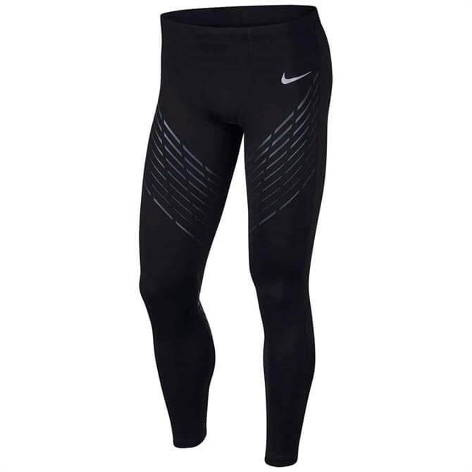 Nike Men's Power Print Run Tight- Black