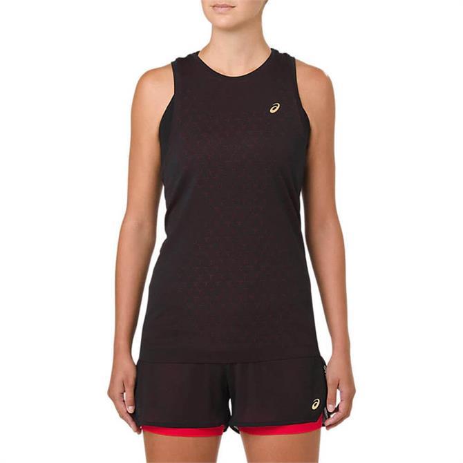 Asics Women's GEL-Cool Sleeveless Running Top - Black/Classic Red