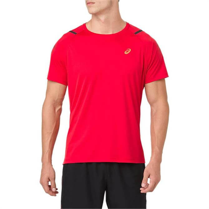 Asics Men's Icon Short Sleeve Running Top - Classic Red