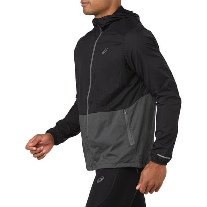 Asics Men's Packable Running Jacket - Dark Grey Heather
