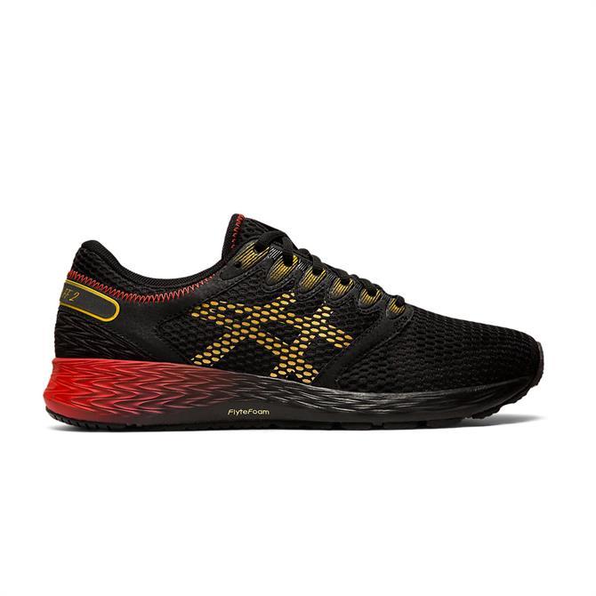 Asics Men's Roadhawk FF 2 Running Shoe - Black/Rich Gold
