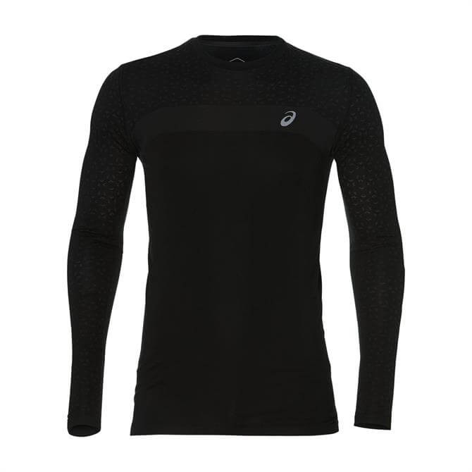 Asics Men's Seamless Long Sleeve Texture Top - Black