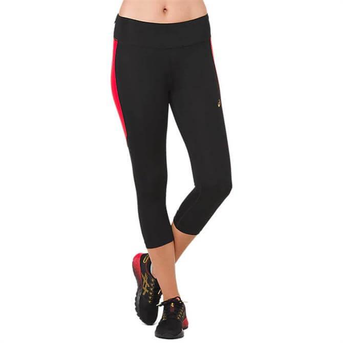 Asics Women's Running Capri Tight - Black/Red