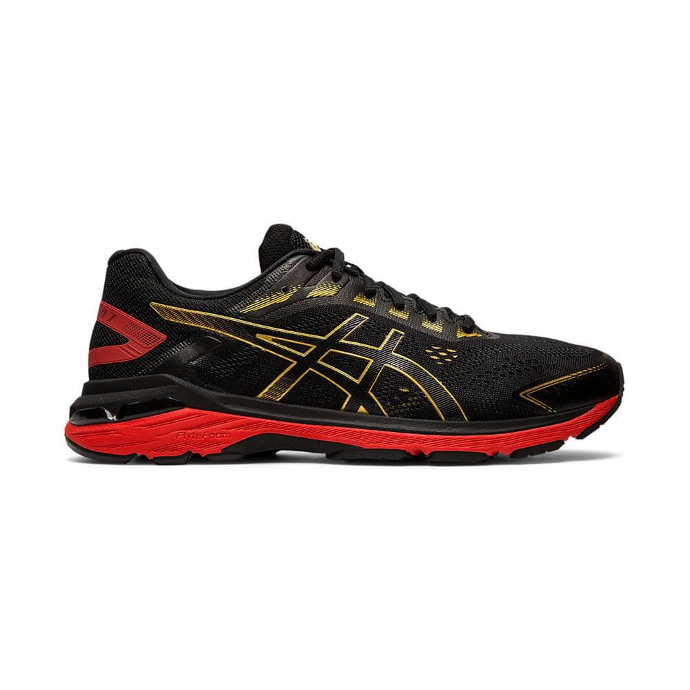 c0e001b504 Asics Men's GT 2000 7 Running Shoe - Black/Rich Gold