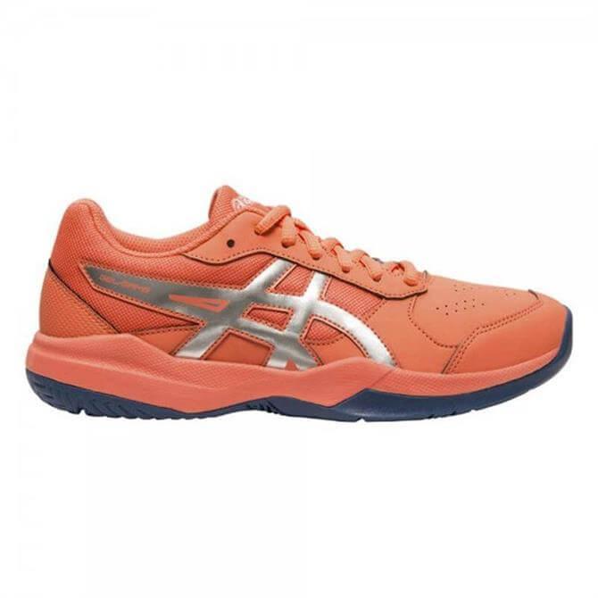 Asics Junior GEL-Game 7 GS Tennis Shoes - Papaya Silver