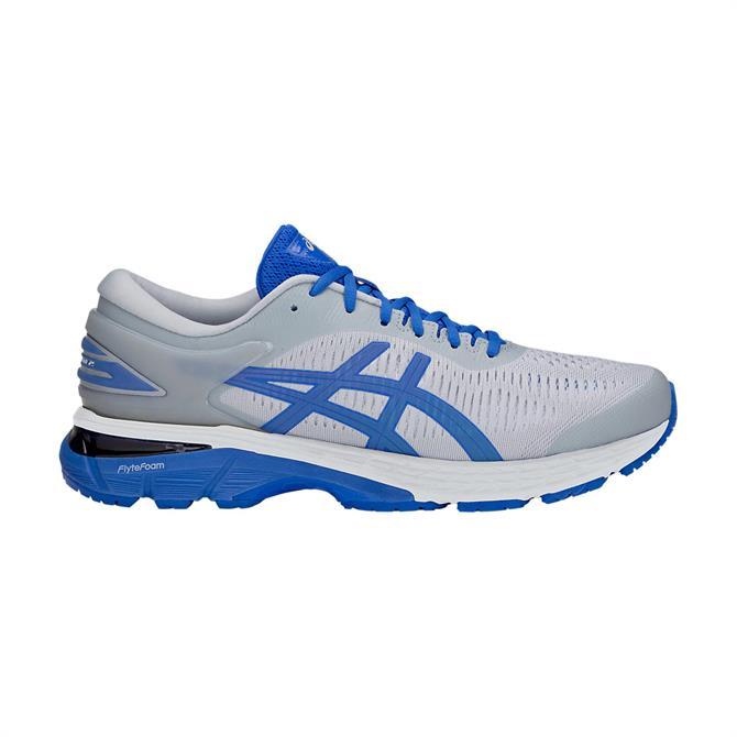 Asics Men's Gel-Kayano 25 Lite Show Running Shoe - Mid Grey/Illusion Blue