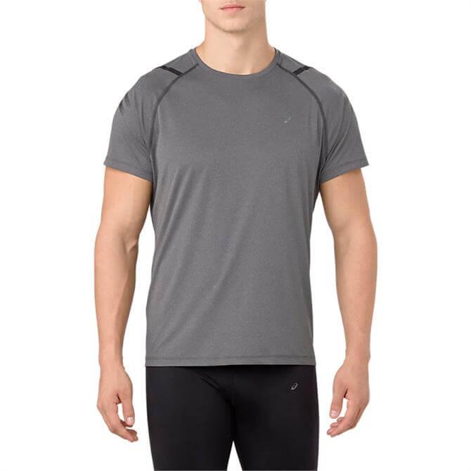 Asics Men's Icon Short Sleeve T-Shirts- Dark Grey