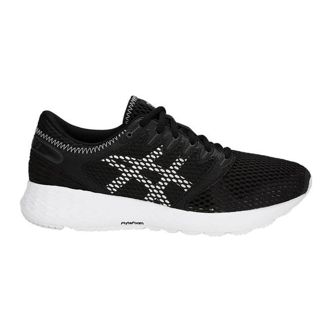 Asics Women's RoadHawk FF 2 Running Shoe- Black/White