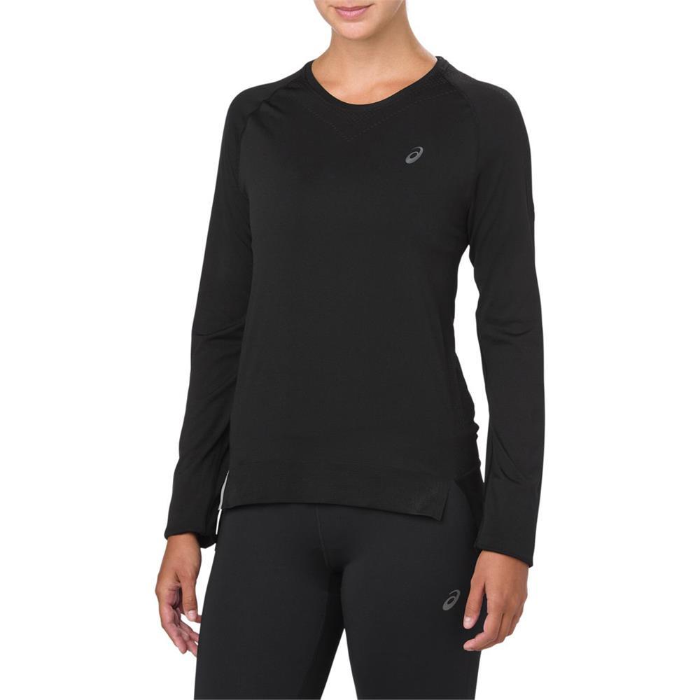 d824d70c Asics Women's Long Sleeve Seamless Running Top - Black