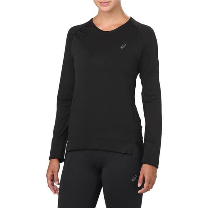 Asics Women's Long Sleeve Seamless Running Top - Black