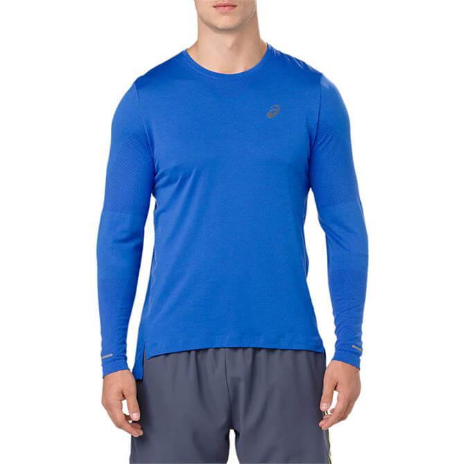 Asics Men's Seamless Long Sleeve Running Top- Illusion Blue